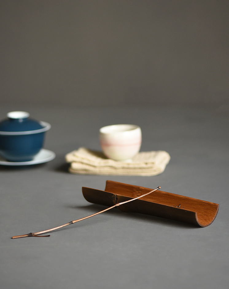 Natural Bamboo Tea Holder and Tea Scoop
