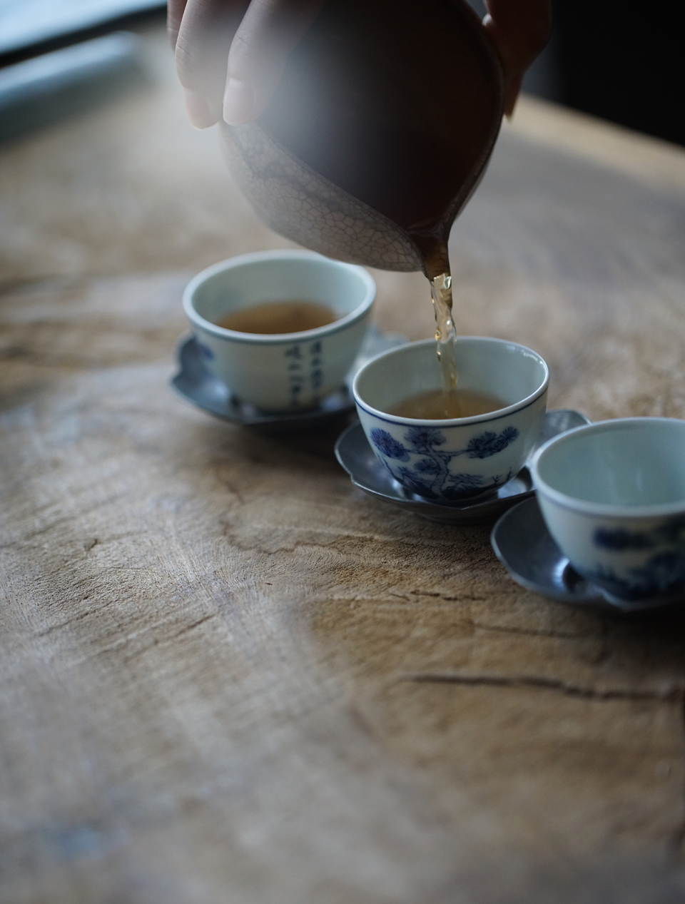 Antique-style Qinghua Blue-white Teacup