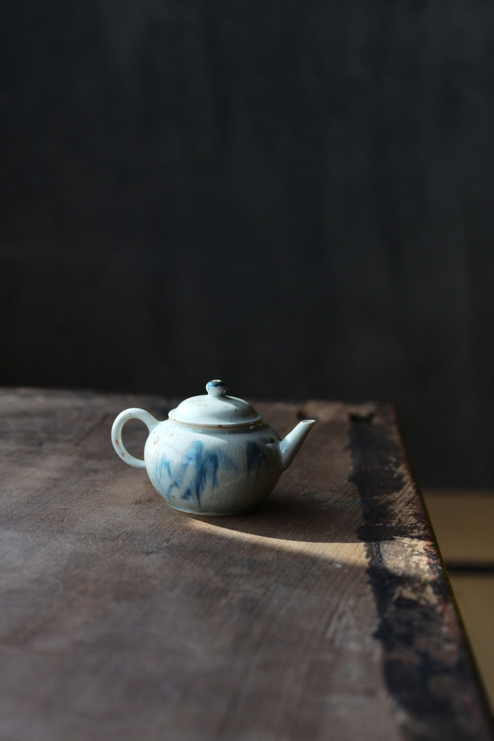 Freehand Ink Crackle Glazed Teapot