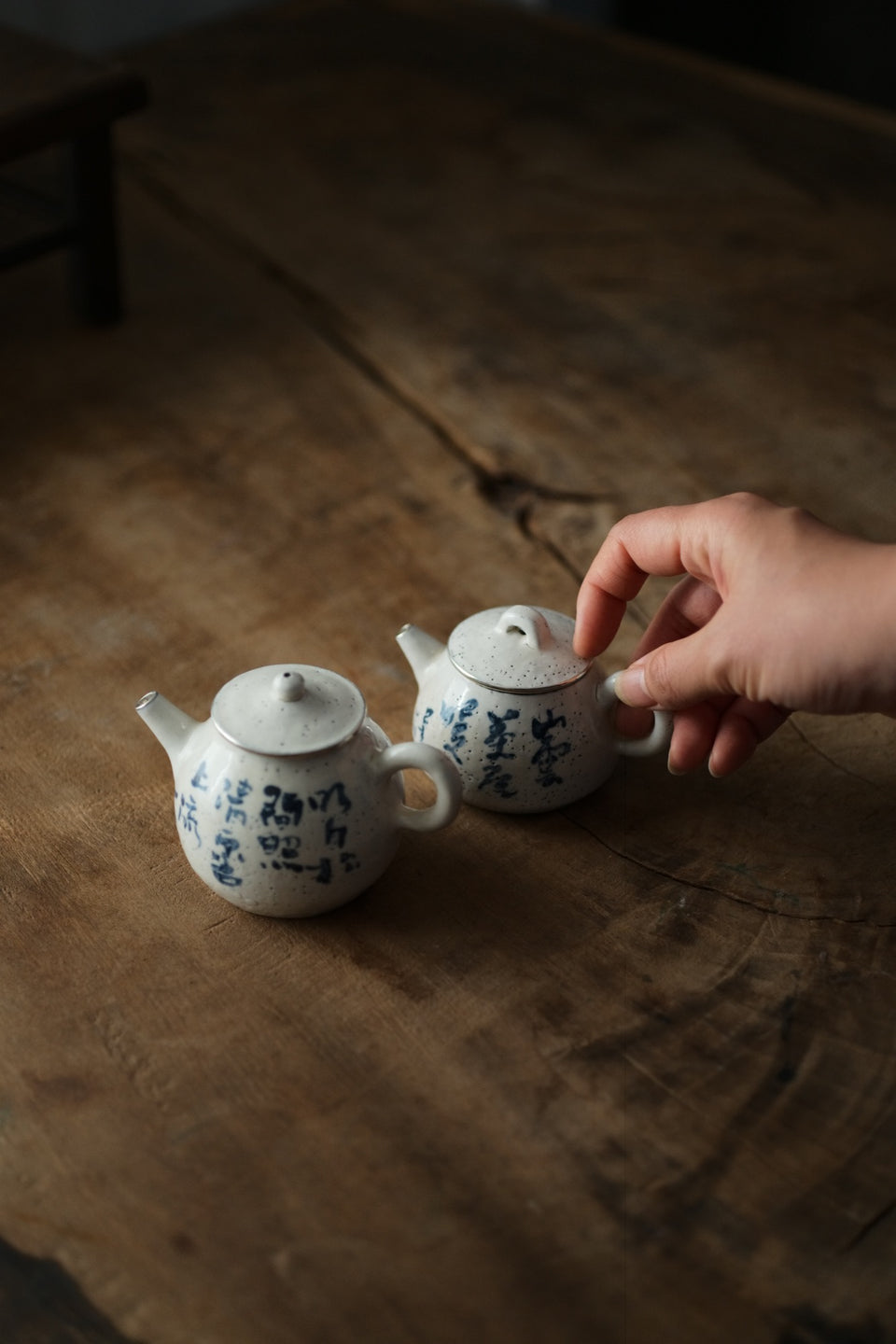 Original Silver-lined Poetry Teapot by Chen Wei