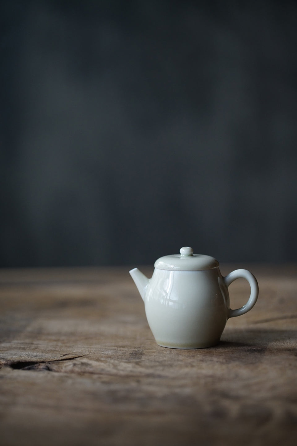Ash-Fired Off-white Porcelain Teapot