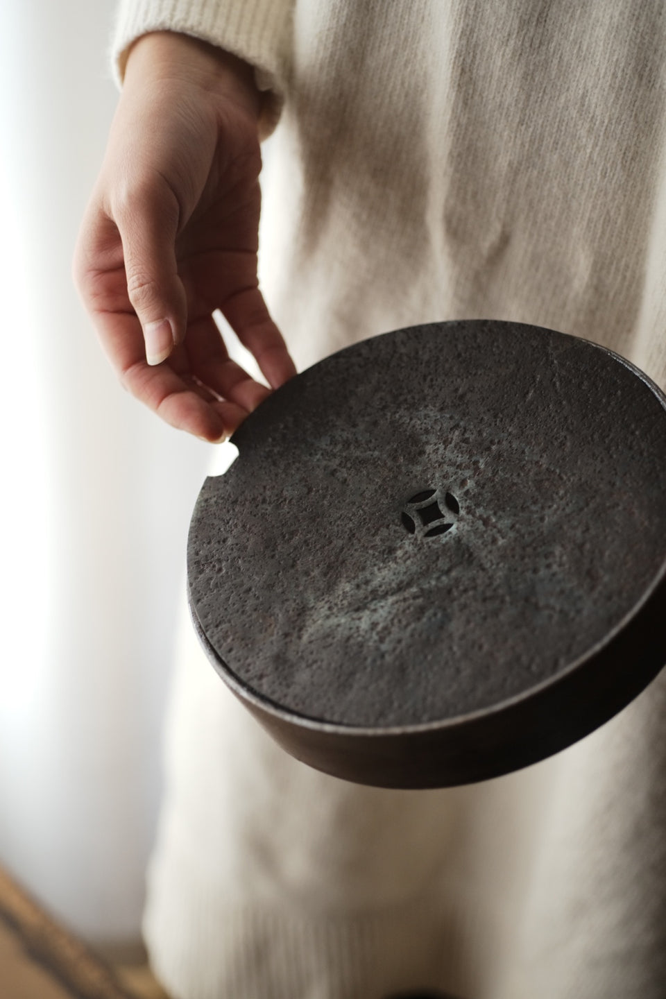 Iron & Pottery Hucheng With Lid