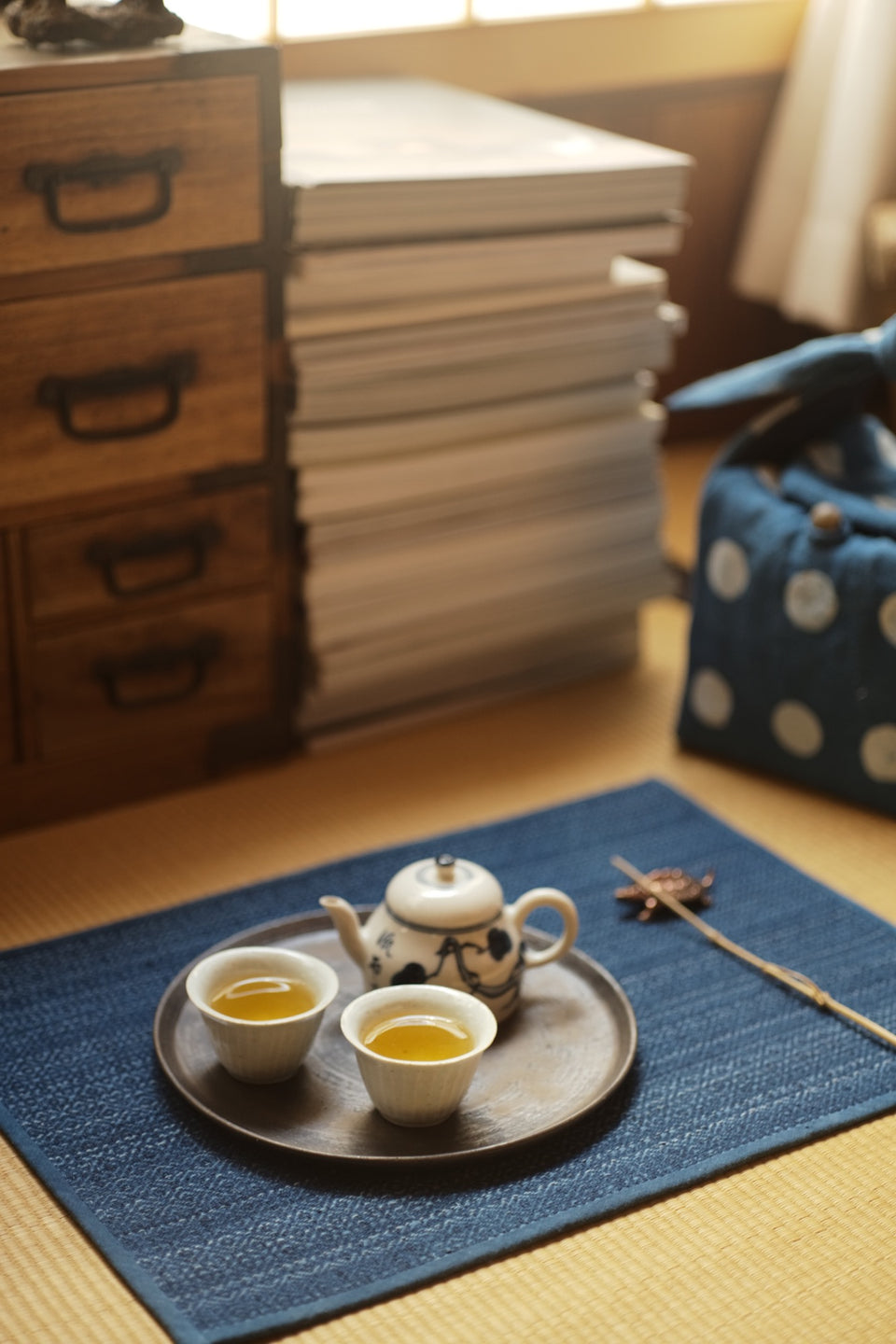 Traditional Two-Sided Tea Mat