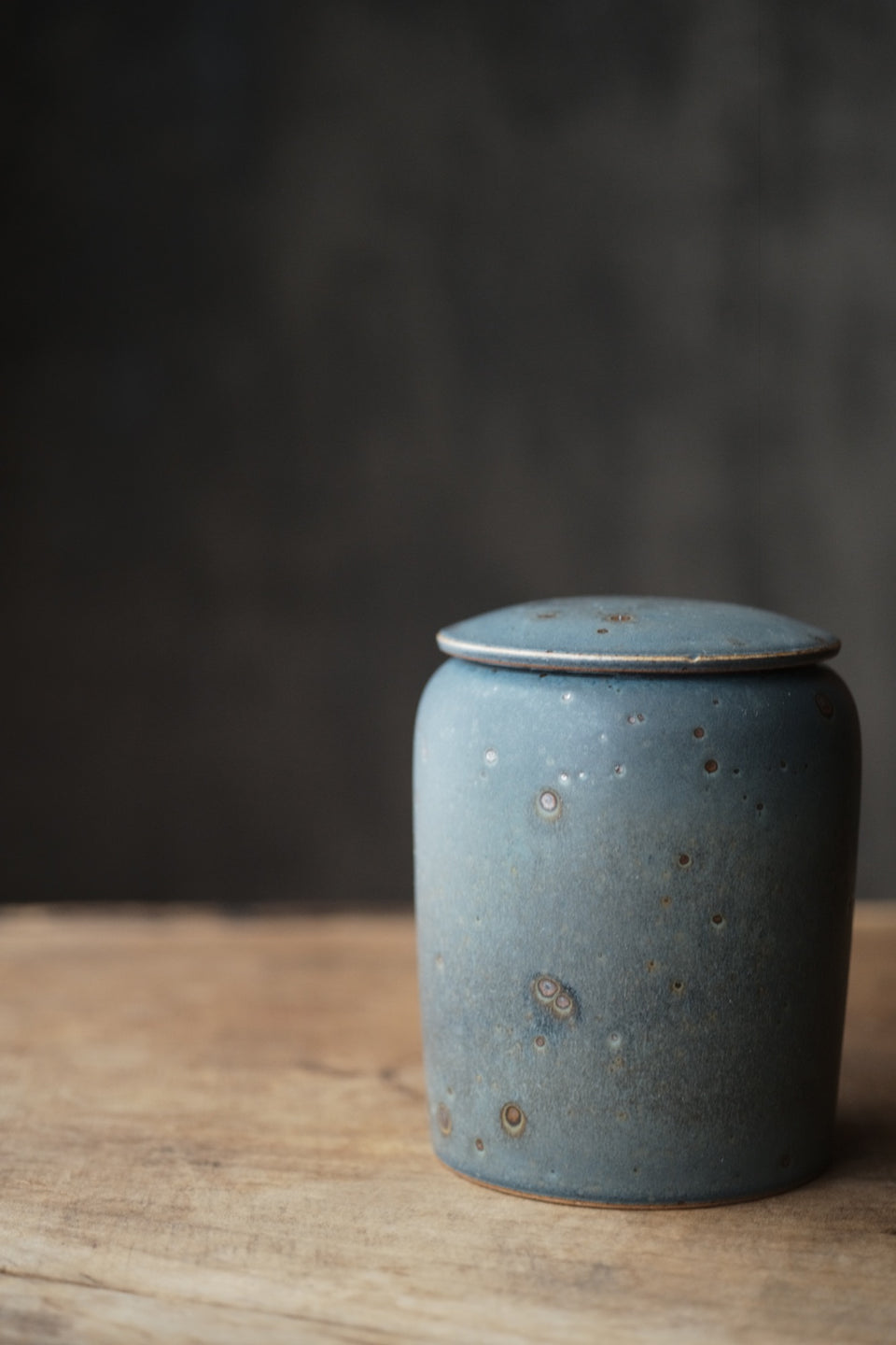 Peacock Blue Large Tea Canister
