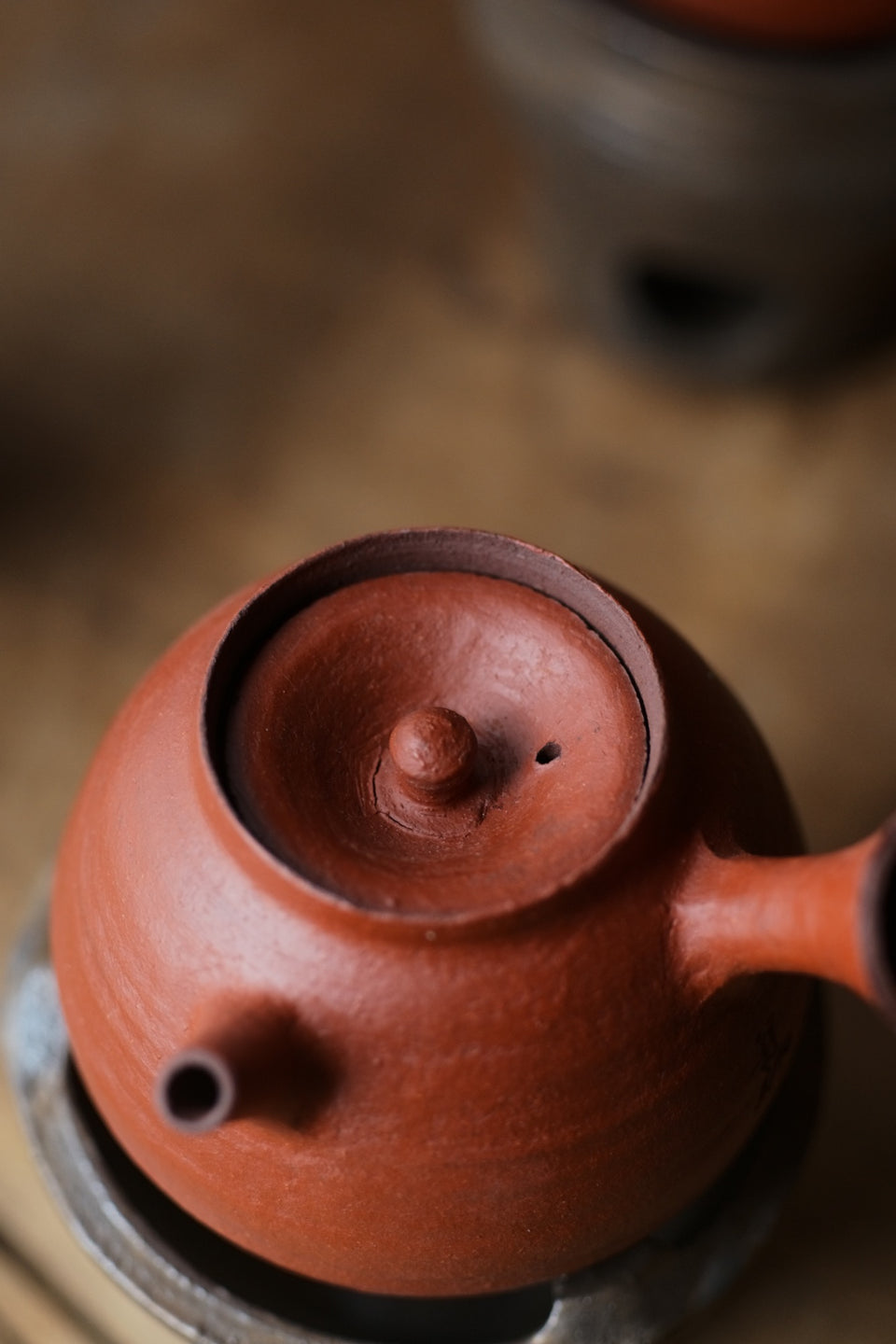 Red Clay Huishan Tea Kettle & Fenglu/Burner set (Chen Wei)