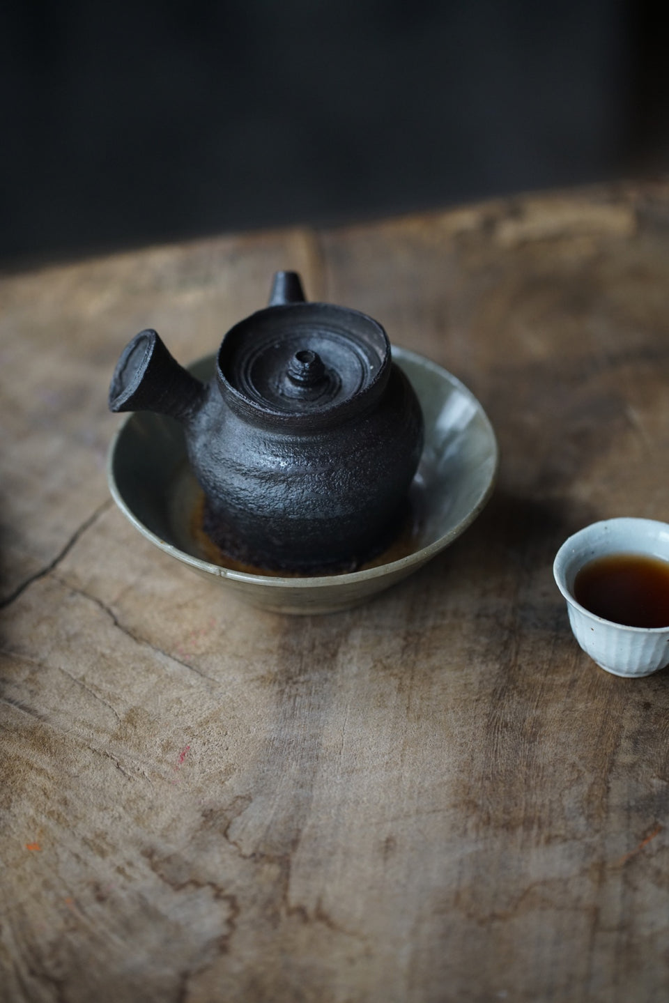 Wabi-Sabi Side-Handle Yixing Teapot (Chen Wei)