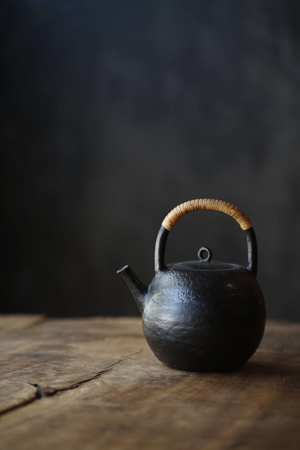 Long-Necked Kettle With Bamboo Skin Handle