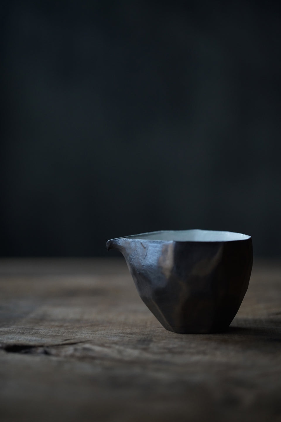 "Metal-glazed ""Origami"" Wide Gongdaobei Pitcher"