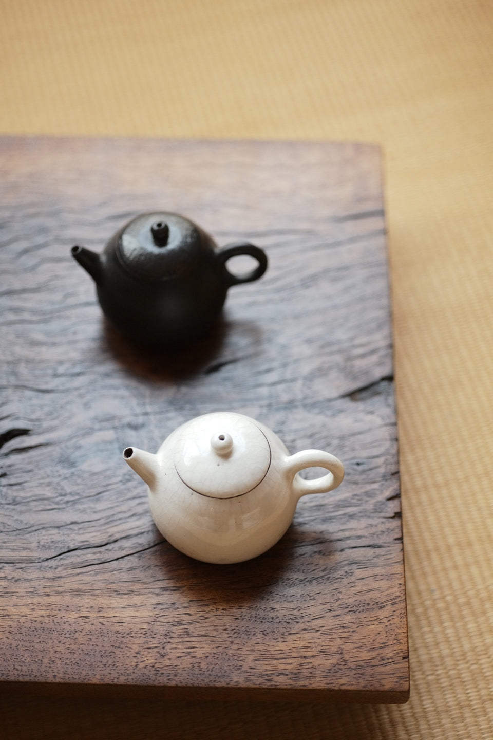 Cute Deep Black Glaze Teapot