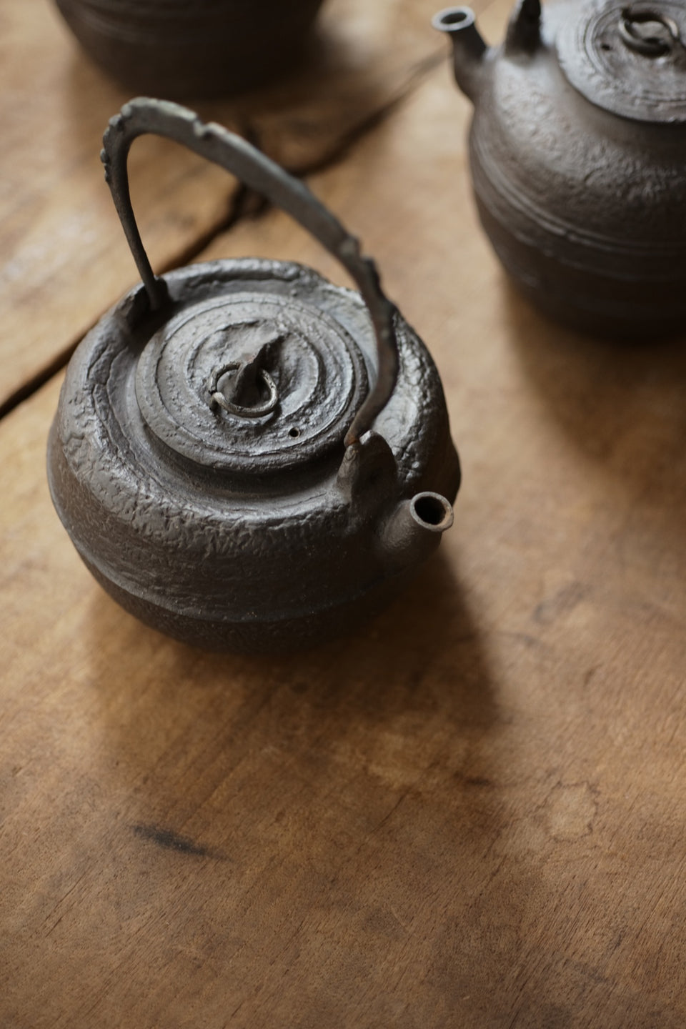 Iron-Handle Wabi-Sabi Tea Kettle