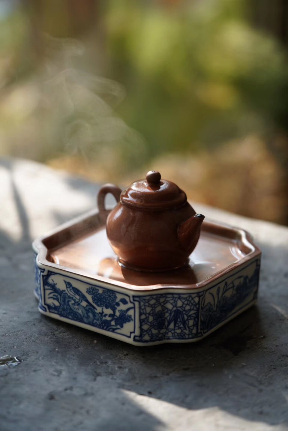 Copper-Lid Square Porcelain Hucheng