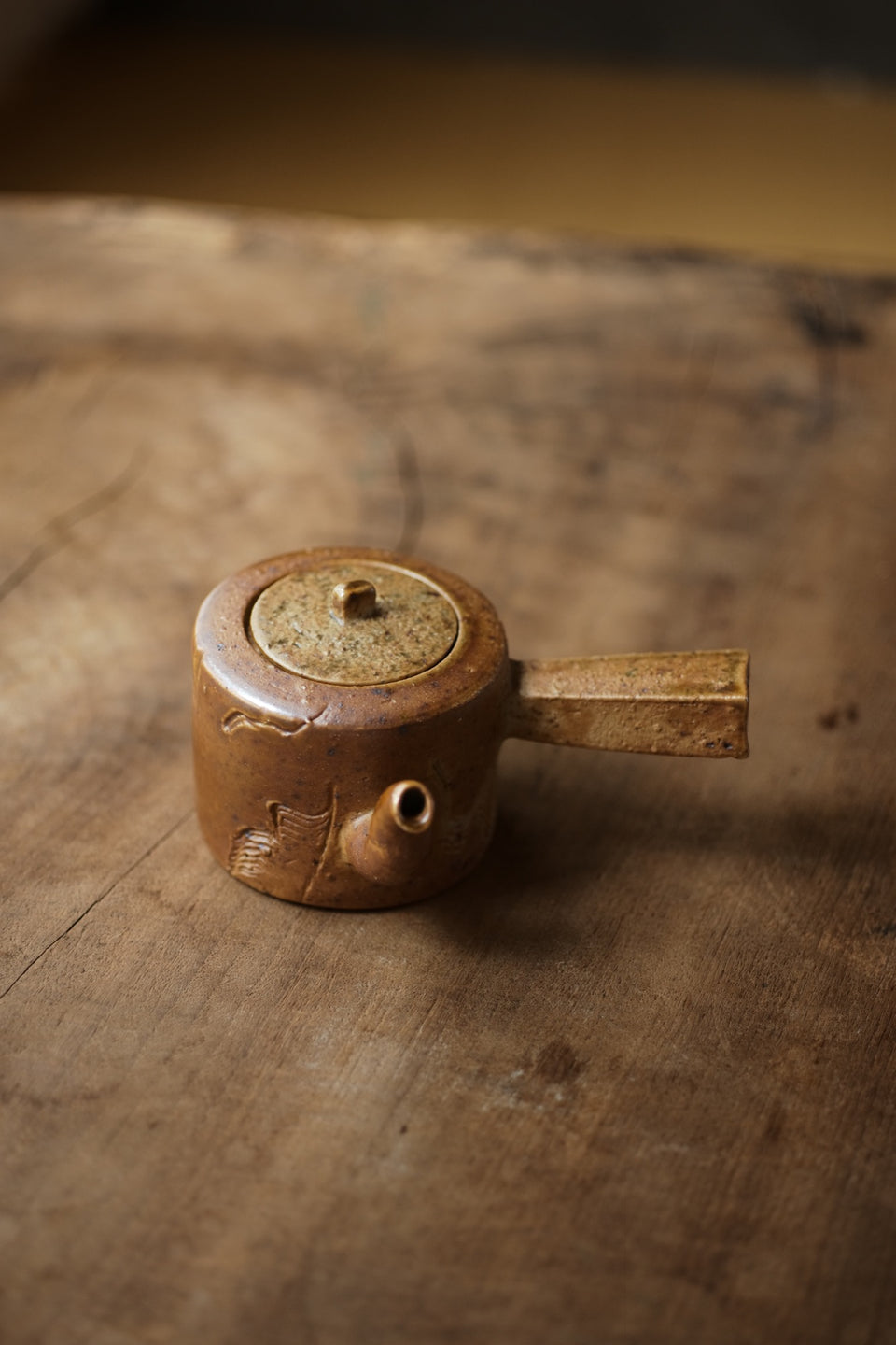 Handmade Firewood-Shaped Side Handle Teapot - Xiao Yang