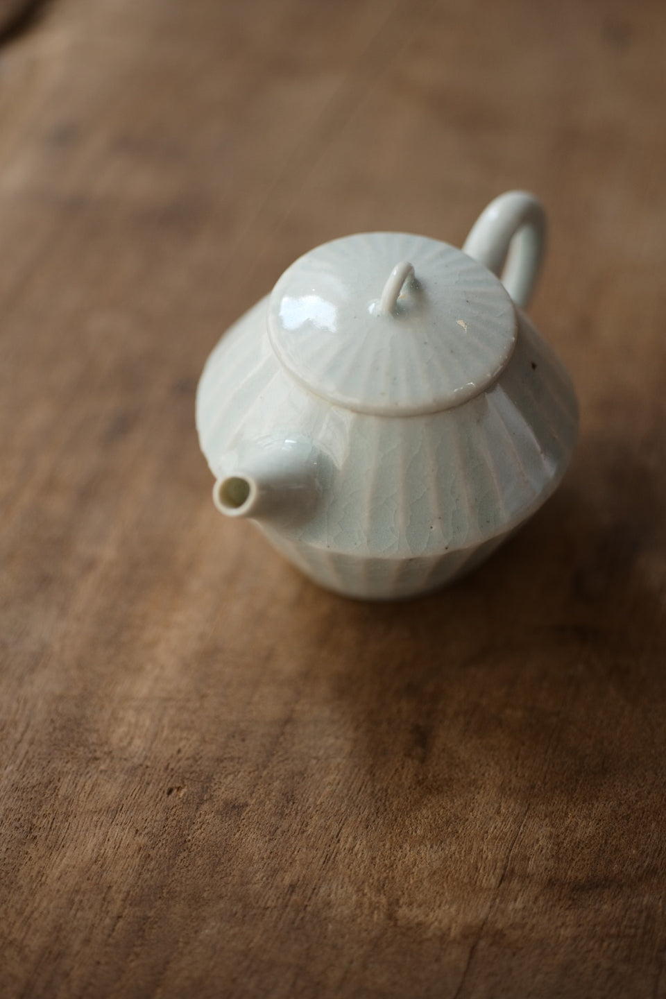 Melon-grooved Soda-fired Teapot