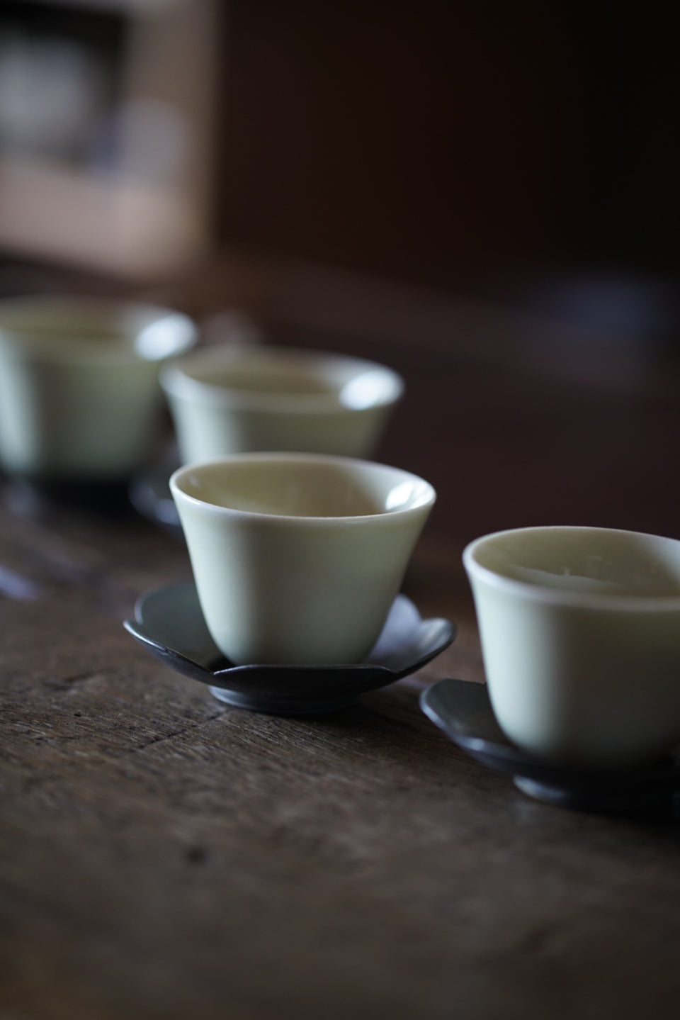 Gongfu teacups - off-white, multiple styles