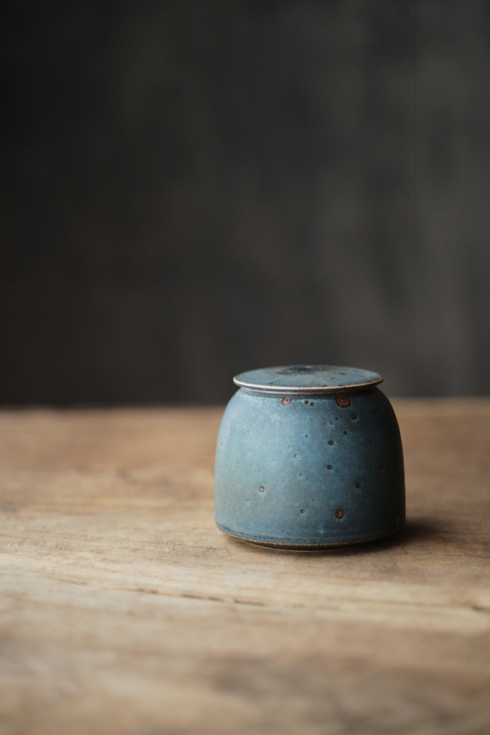Peacock Blue Small Tea Jar