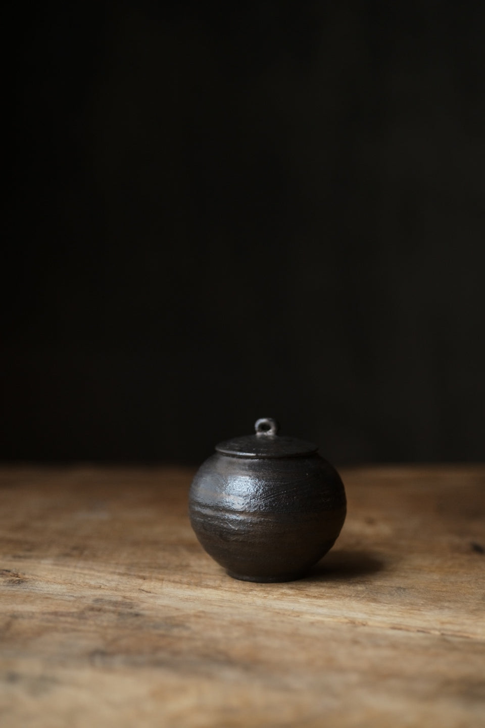 Metal-glazed Small Tea Jar