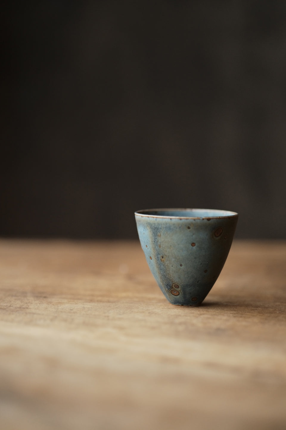 Peacock Blue Kiln-fired Teacups