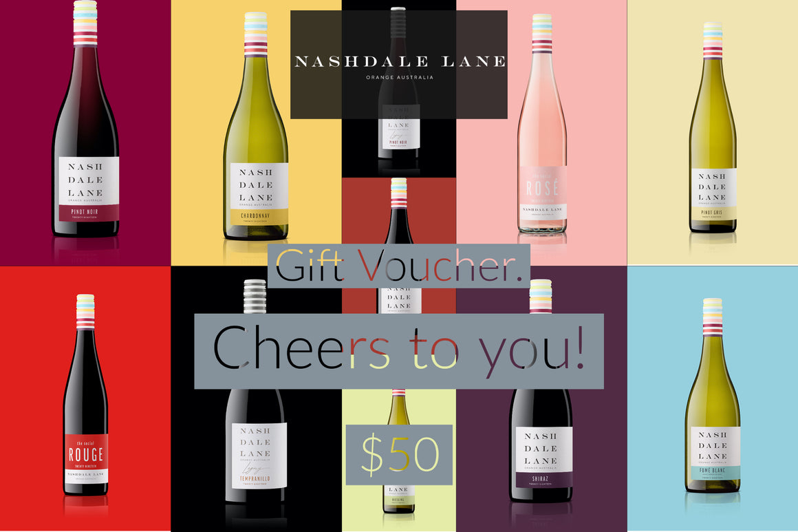 Nashdale Lane Wines Gift Voucher $50