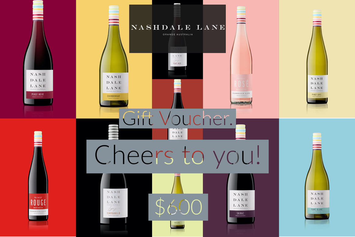 Nashdale Lane Wines Gift Voucher $600