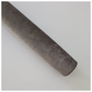 A4 Sheet of Smoke Grey Velvet Fabric (thick)