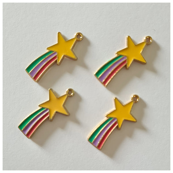 1 x Rainbow Shooting Star Charm