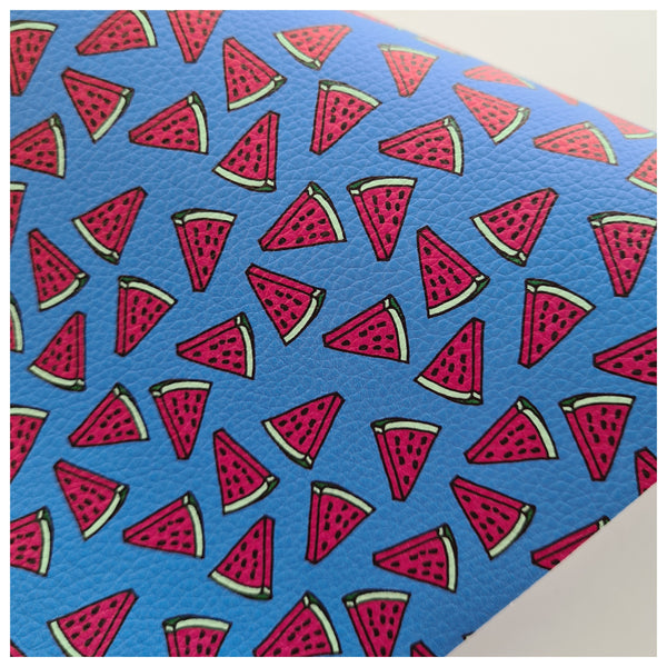 A4 Sheet of Watermelon Blues Litchi Leather