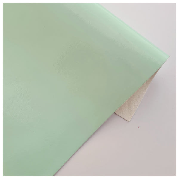 A4 Sheet of Mint Patent Faux Leather