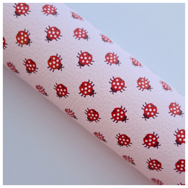 A4 Sheet of Little Miss Ladybug Litchi Leather