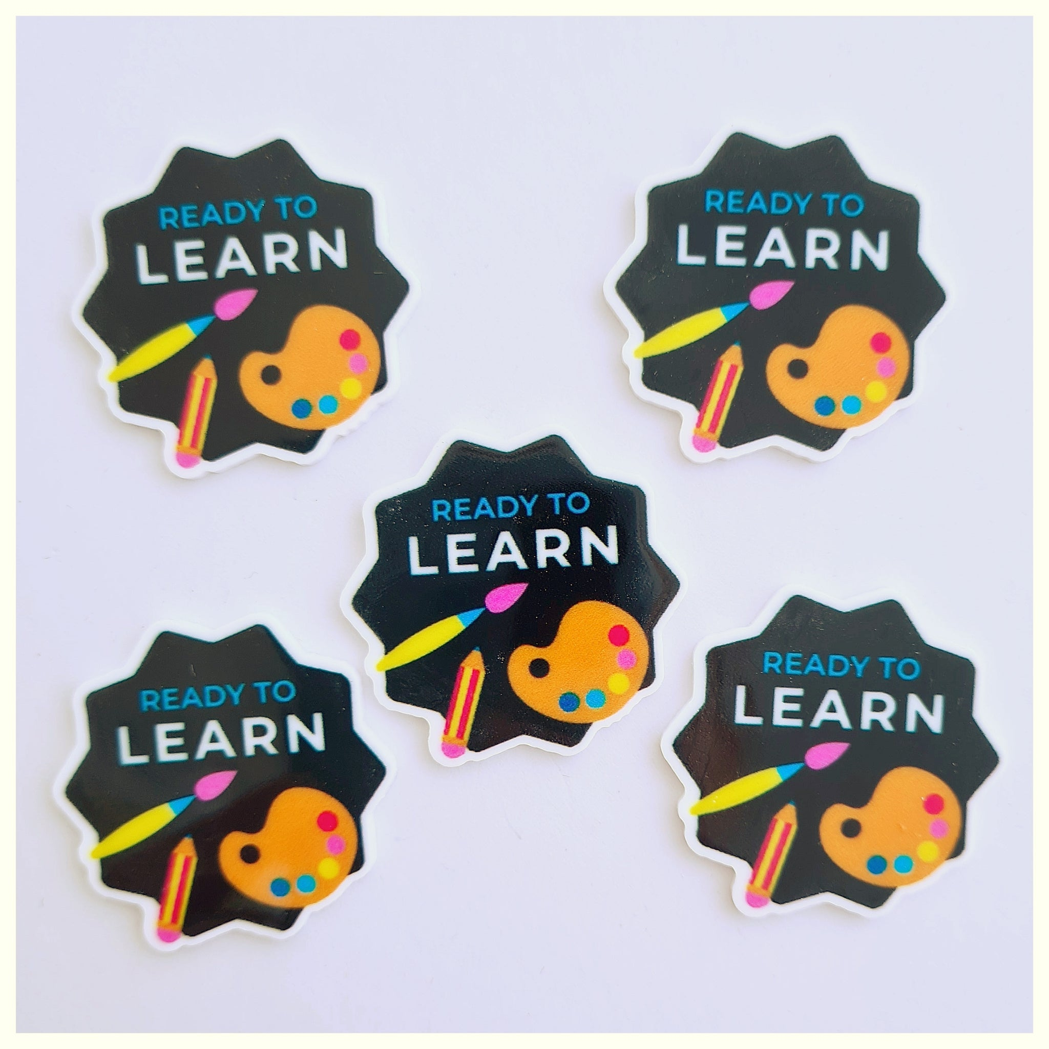 5 x Ready to Learn School Embellishments
