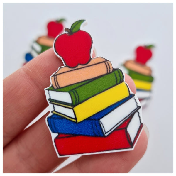 5 x School Books Embellishments