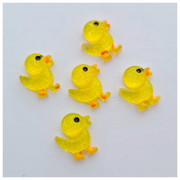 5 x Teeny Tiny Yellow Duckling Embellishments
