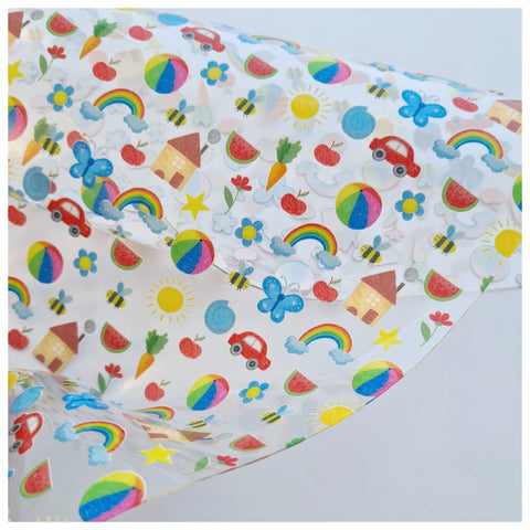 A4 Sheet of Sybella's Sketches Jelly Fabric (TPU)