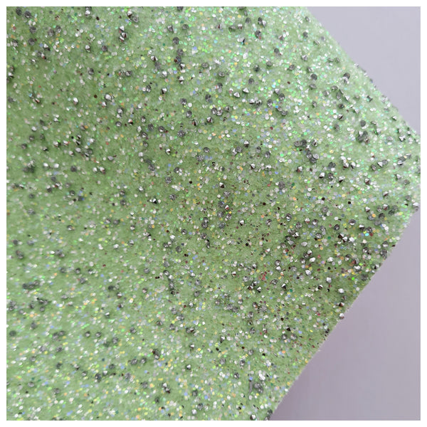 A4 Sheet of Green Dazzling Diamonds Glitter