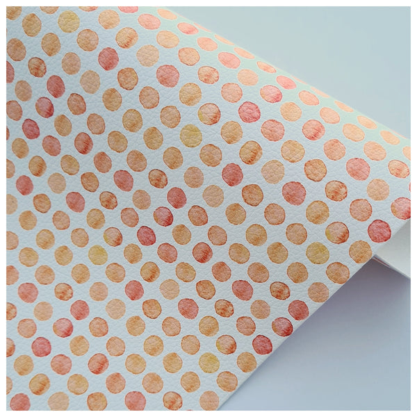 A4 Sheet of A Spot of Orange Litchi Leather