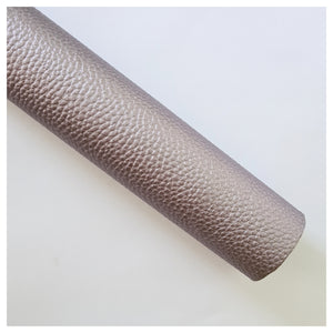 A4 Sheet of Gunmetal Litchi Faux Leather (1.2mm)