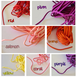 2.5mm Suede Cord (multiple colours)
