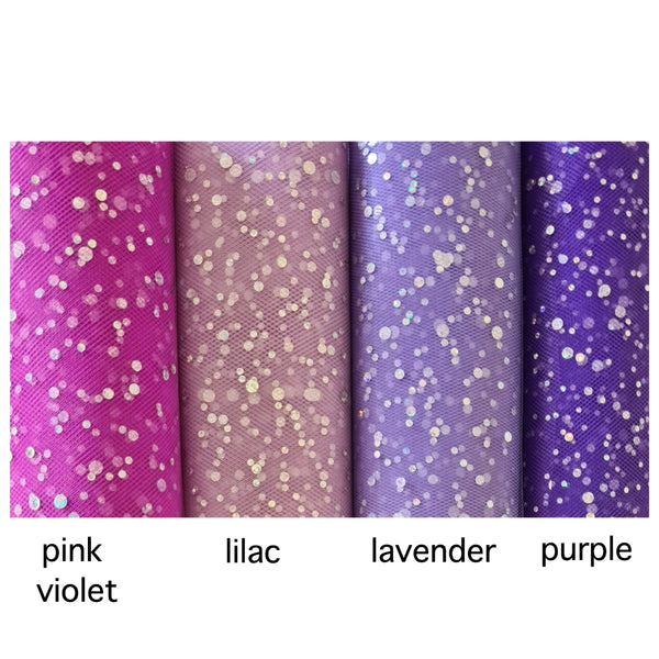 Sequin Tulle - various colours