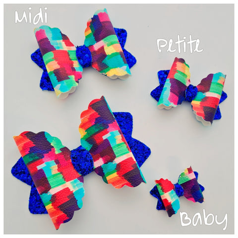 "PRE-ORDER ""Baby SCALLOPED Kiarah"" Bow Die. Ready to ship 24th May"