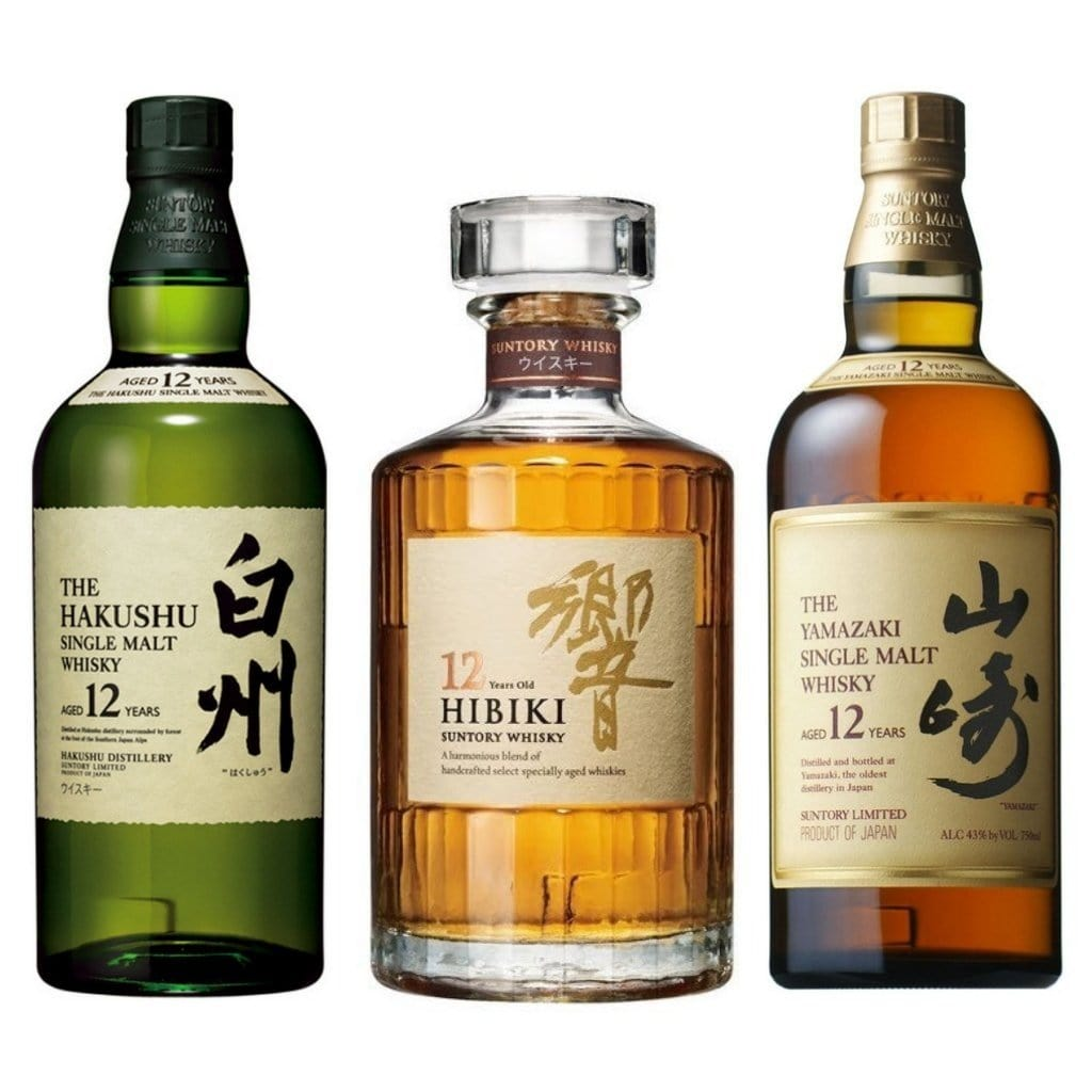 The Hibiki 12 Yr Old, Hakushu 12 Yr Old & Yamazaki 12 Old Limited Edition Boxed Bundle