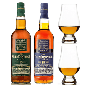 The GlenDronach Revival & Allardice Bundle 15 Yr Old + 18 Yr Old + 2 Glencairn Glasses