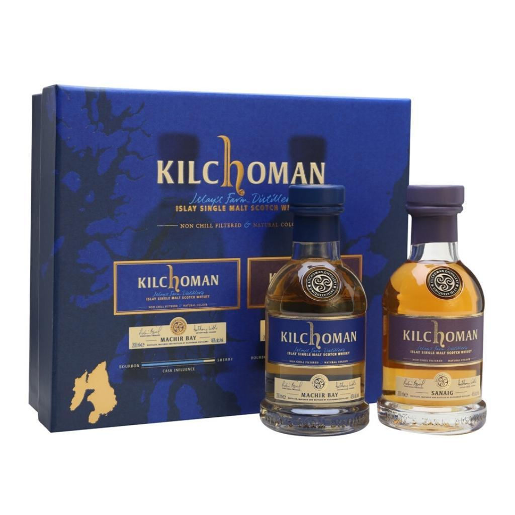 Kilchoman Machir Bay and Sanaig Gift Pack 2X20cl, 46%