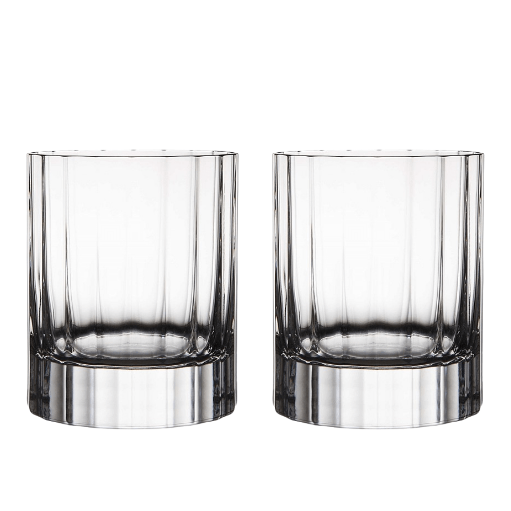 Luigi Bormioli Heavy Whisky Crystal Glasses (Bach 335 ml Double Old Fashioned) - 2 Pack