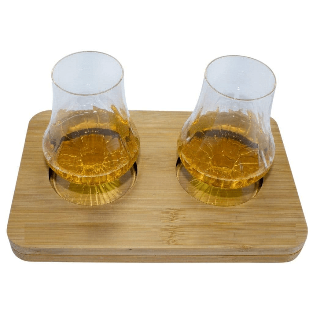 Luigi Bormioli - 2 Pack Whisky Tasting Gift Set includes Wooden Presentation Stand