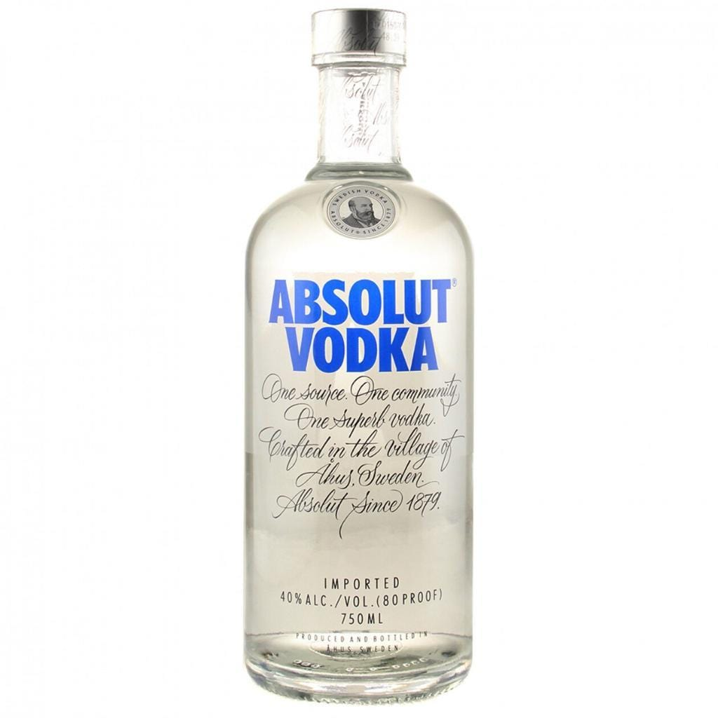 Absolut Plain Vodka 40% 750 ml