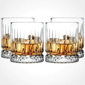 Pasabache Elysia Whisky Tumbler Crystal Scotch Glasses 355 ml - 4 pack