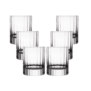 Luigi Bormioli Heavy Whisky Crystal Glasses (Bach 335 ml Double Old Fashioned) - 6 Pack