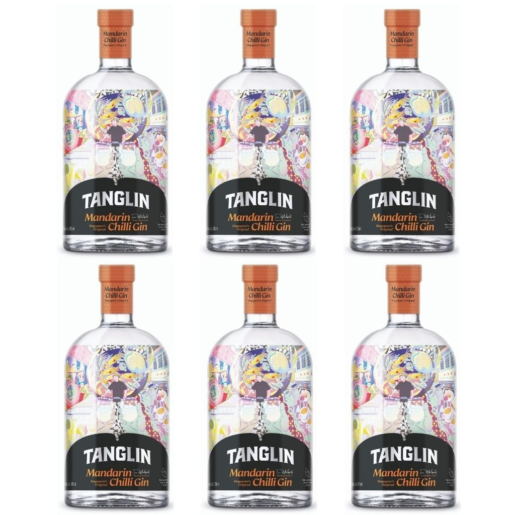 Tanglin Mandarin Chilli Gin 42% 700 ml - 6 Pack