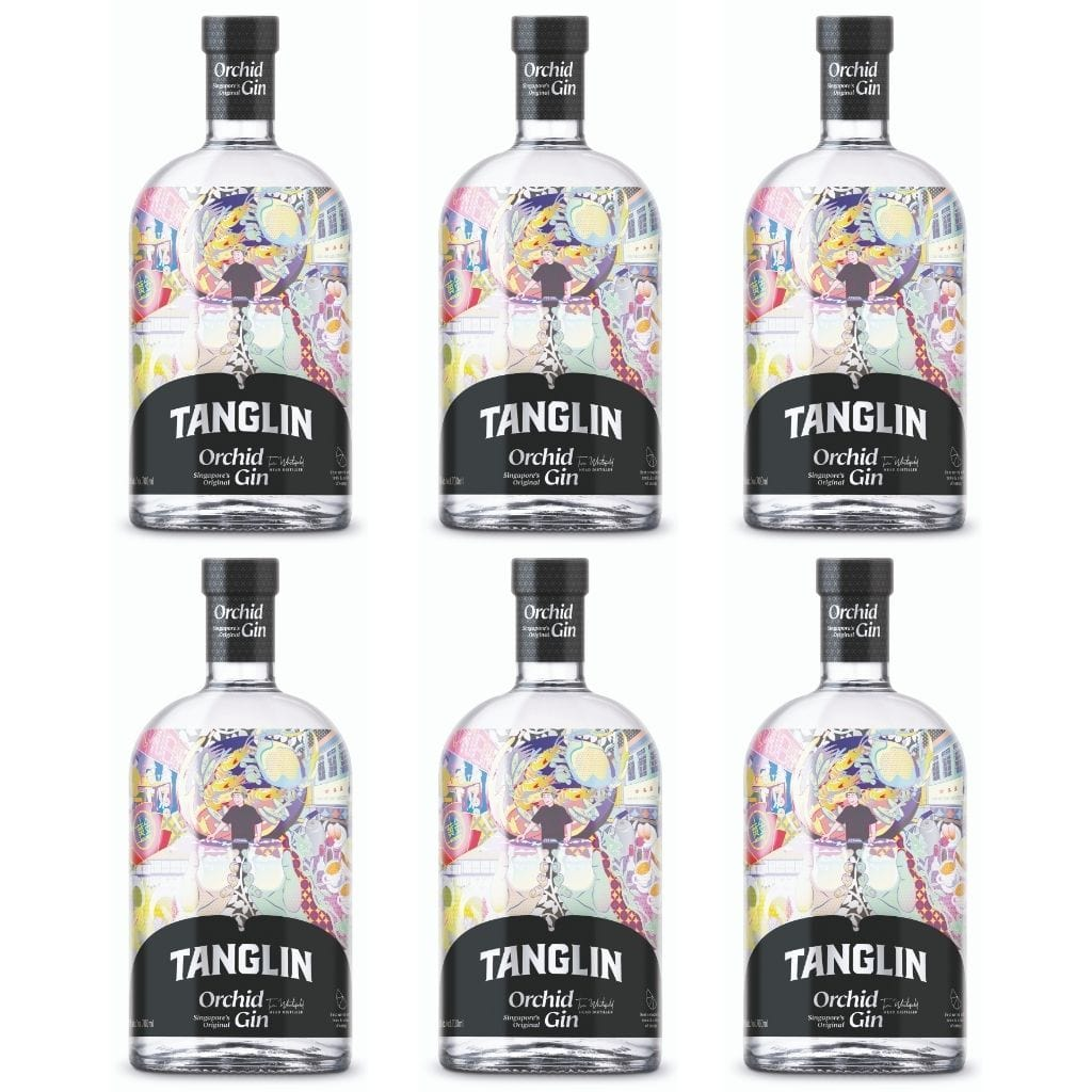 Tanglin Orchid Gin 42% 700 ml - 6 Pack