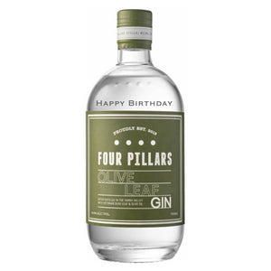 Personalised Four Pillars Olive Leaf Gin 700mL