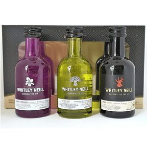 Whitley Neill Whtley Neill Original + Rhubarb & Ginger + Blood Orange Gins 700ml (Inc. Mini Gift Pack 3 x 50ml valued at $24.95)